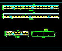 两跨双坡钢结构厂房建筑结构施工图纸