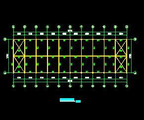 某门式钢架结构厂房结构施工图纸