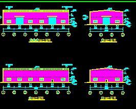 钢结构厂房建筑结构施工图