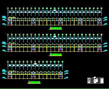 48米跨门式刚架钢结构厂房结构施工图纸