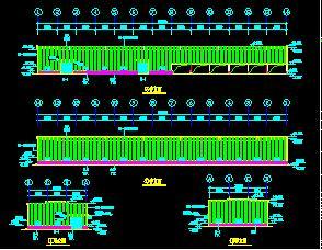 24米轻型门式钢屋架结构厂房结构施工图纸(含报价)