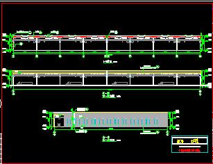 门式钢架结构物流厂房建筑结构施工图纸
