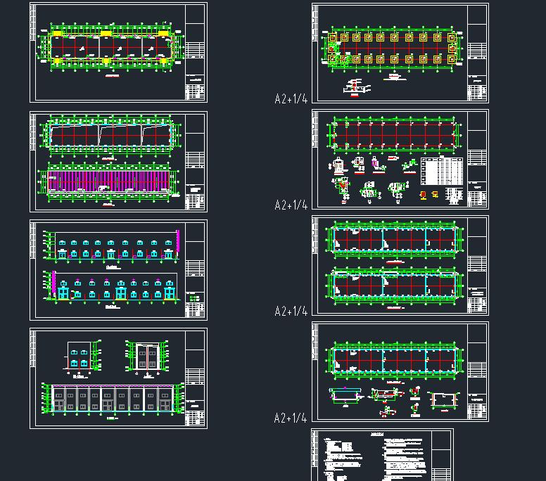 框图纸别墅危废排架建筑结构v图纸库房免费下载四间房屋的小结构设计图图片