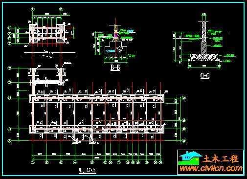 小学教学楼基础平面图免费下载 地基基础