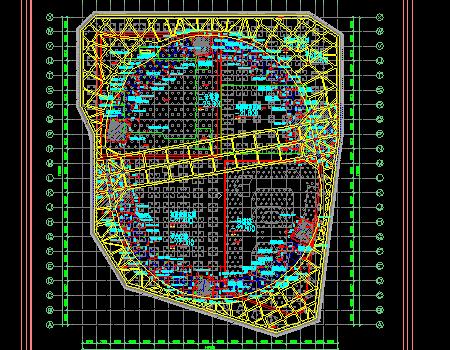 超深基坑开挖旋转栈桥设计图