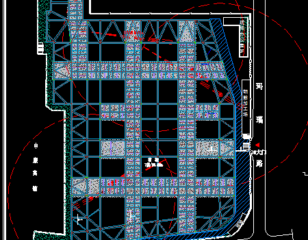 高层办公楼第一层混凝土支撑施工方案图