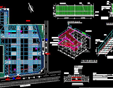 高层办公楼基坑围护施工安全防护方案图