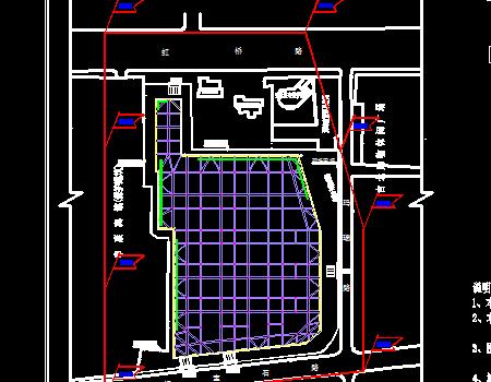 高层办公楼混凝土支撑拆除工况图及方案图
