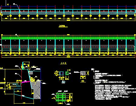 混凝土重力式挡土墙设计图图片