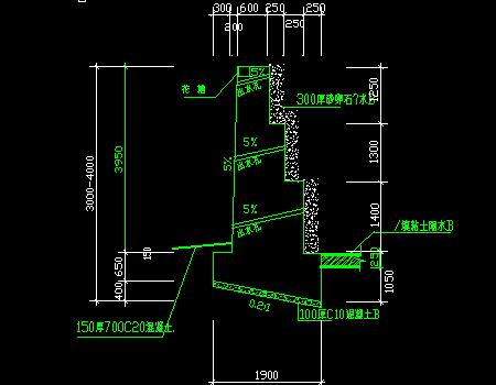 重力式挡土墙设计构造图及计算小程序