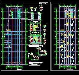 矩形柱框架结构地下车库结构施工图纸