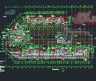住宅小区地下室建筑结构施工图纸