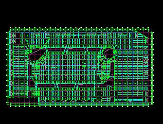 四层框架结构商业广场结构施工图纸