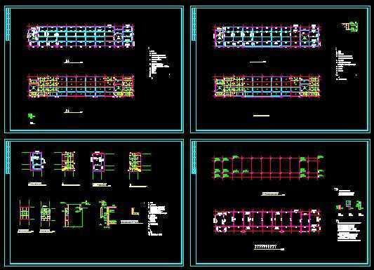框架教学楼结构平面图