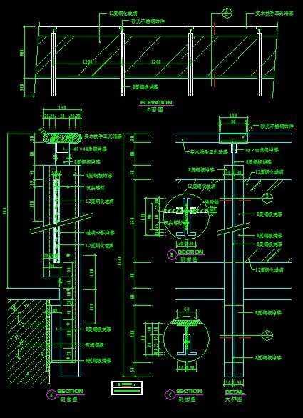 钢板烤漆大样,平面,立面,剖面图免费下载 - 钢结构