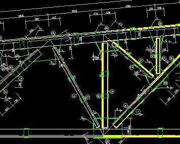 梯形钢结构屋架设计施工图