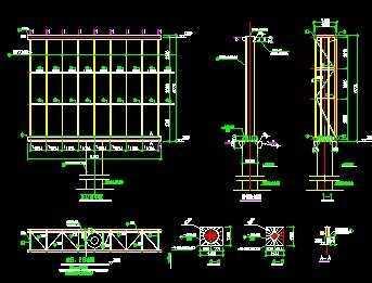 户外全彩屏钢结构施工图
