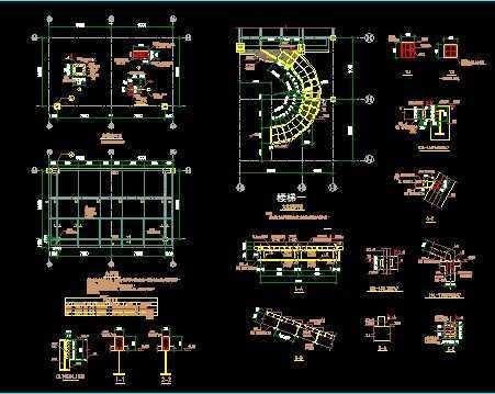 钣金工具做的旋转楼梯图纸免费下载 - 钢结构 - 土木