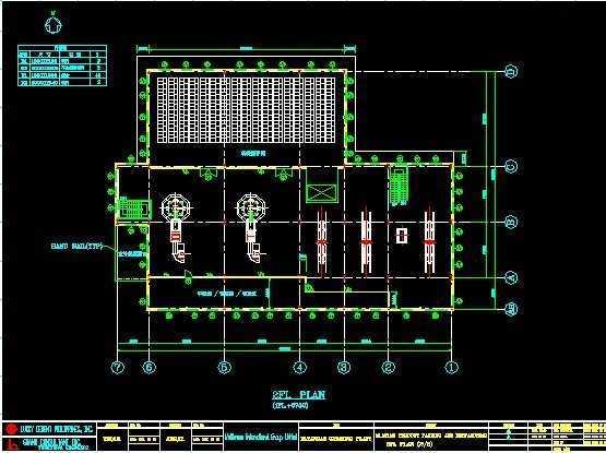 一套多层钢结构框架设计图