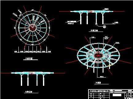商业楼大飞碟膜结构图纸