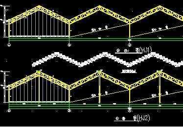 鋼管結構智能大棚施工圖