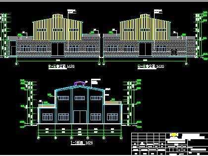 鋼結構廠房施工圖紙