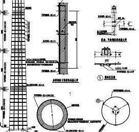 某结构v结构烟囱设计图免费下载景观设计项目管理报告图片