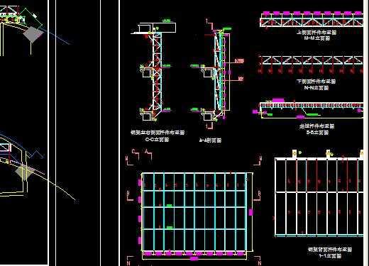 某显示屏钢结构设计图