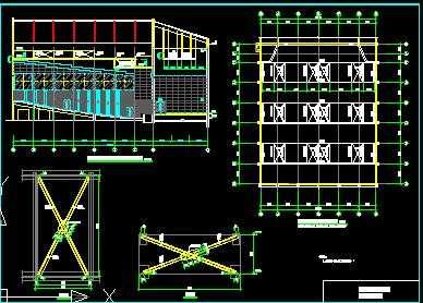某大厅检修马道及吊顶钢结构设计图