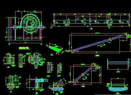 某旋转楼梯节点构造详图免费下载 - 钢结构 - 土木
