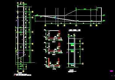 某门廊及行车道板节点构造详图免费下载 - 钢结构