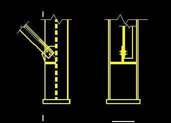 某角钢支撑与柱连接节点构造样图免费下载 - 钢结构