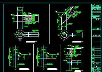 四面坡钢结构别墅设计图纸