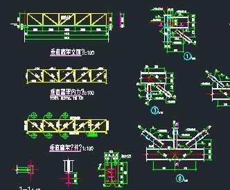 某16m钢桁架通廊结构设计图