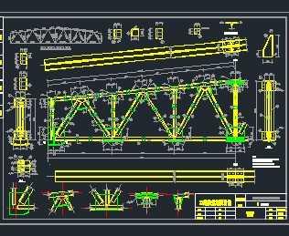 梯形屋架结构施工图免费下载 - 钢结构 - 土木工程网