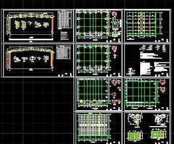 某钢架结构厂房施工图