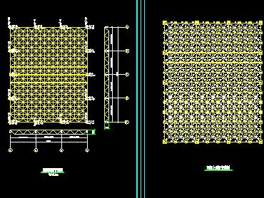 报告厅钢结构网架设计图