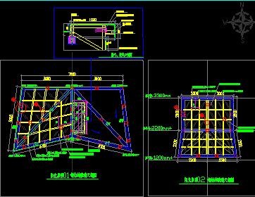 斜屋面钢结构采光天棚设计图