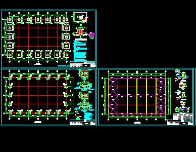 羽毛球场框架结构施工图