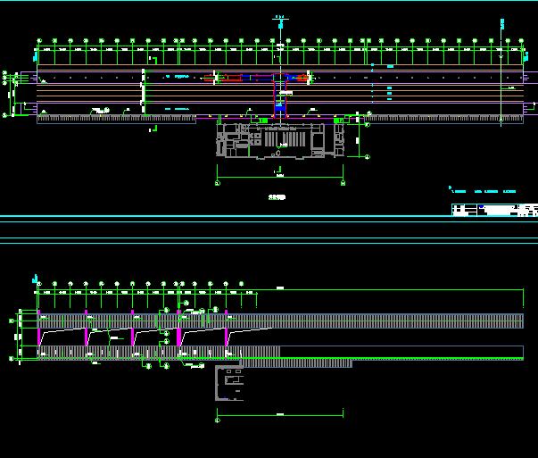 火车站台雨棚结构施工图(含报价)