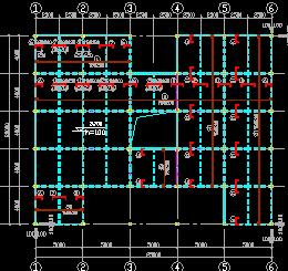 某科研所检测大楼结构设计图纸
