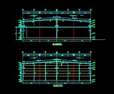 机械钢结构厂房工程设计图