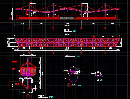 钢结构网架设计图纸