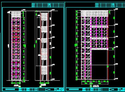 钢结构观光电梯井道施工图纸
