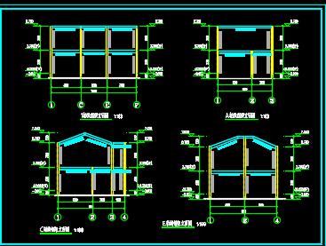 二层轻钢别墅施工图纸