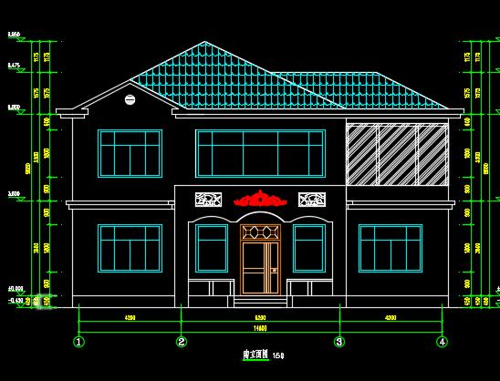 新农村二层钢框架结构别墅优乐娱乐图纸