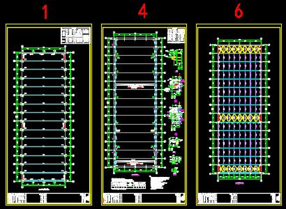 废旧电池回收主厂房结构施工图纸