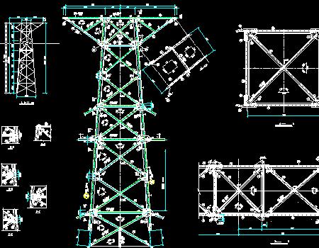 铁塔全套结构设计图纸