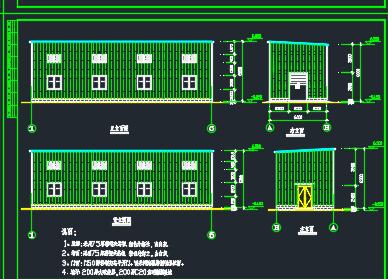 某小区建设活动板房施工图纸