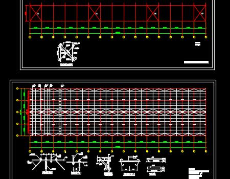 90x24x8米钢结构厂房施工图纸
